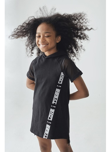 Tyess Kız Çocuk Siyah Elbise Siyah